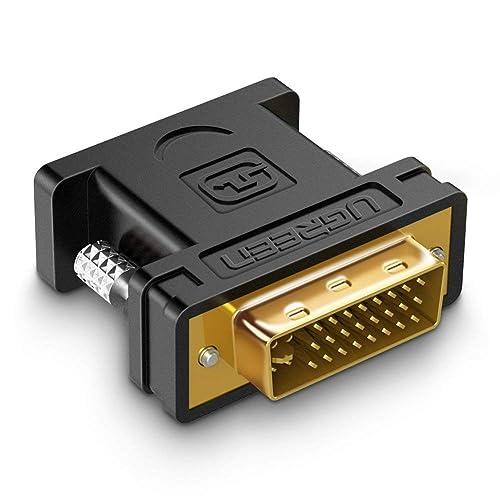 UGREEN Adaptateur DVI I vers VGA 1080P Convertisseur DVI 24 5 Mâle VGA Femelle Connecteur pour PC Carte Graphique Écran Moniteur TV