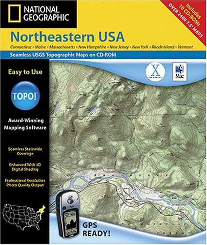 National Geographic TOPO! Northeastern USA Map CD-ROM (Mac)