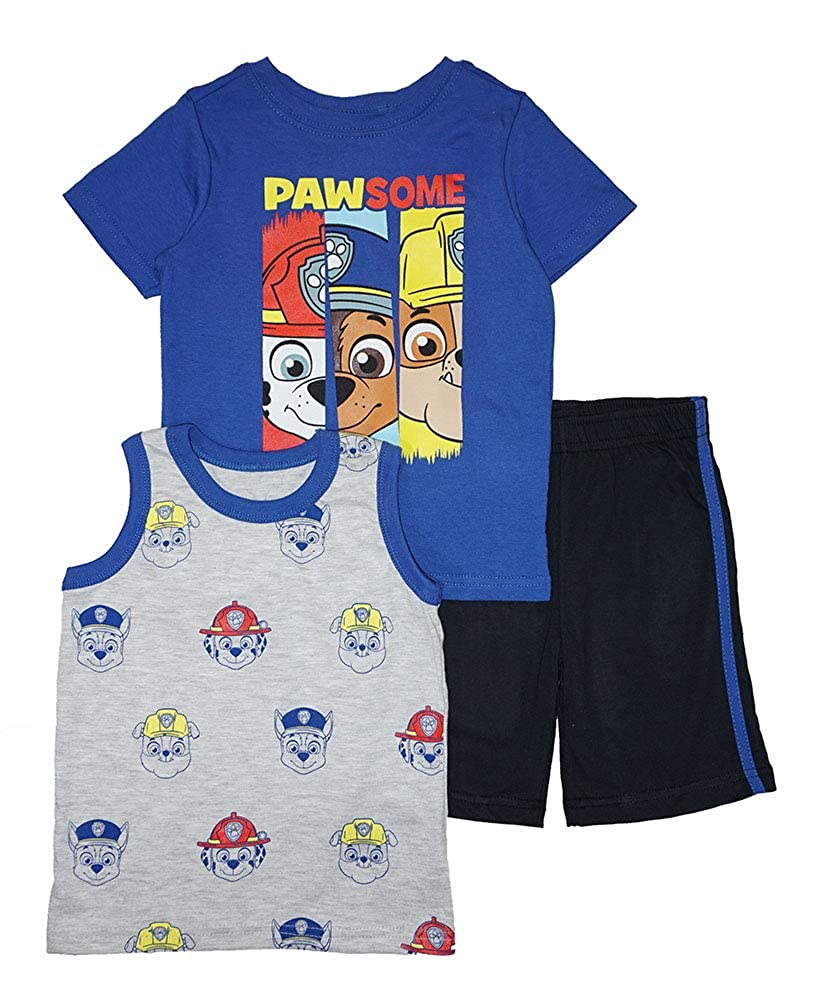 Paw Patrol Little Boys Three-Piece Short Set