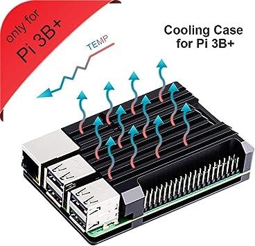 GeeekPi Raspberry Pi 3B+ Caja, Raspberry Pi Armor Case, Raspberry Pi Caja con Disipador para Raspberry Pi 3B+ (Solo para Pi 3B +): Amazon.es: Electrónica