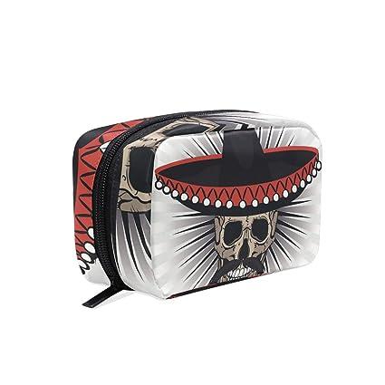 ISAOA Mini Bolsa de Maquillaje con diseño de Calavera en el ...