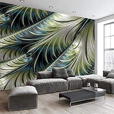 ShAH Custom 3D Wallpaper Mural Floor Sticker Modern Minimalist Feather Mural Sofa Living Room Bedroom Tv Backdrop Home Decor
