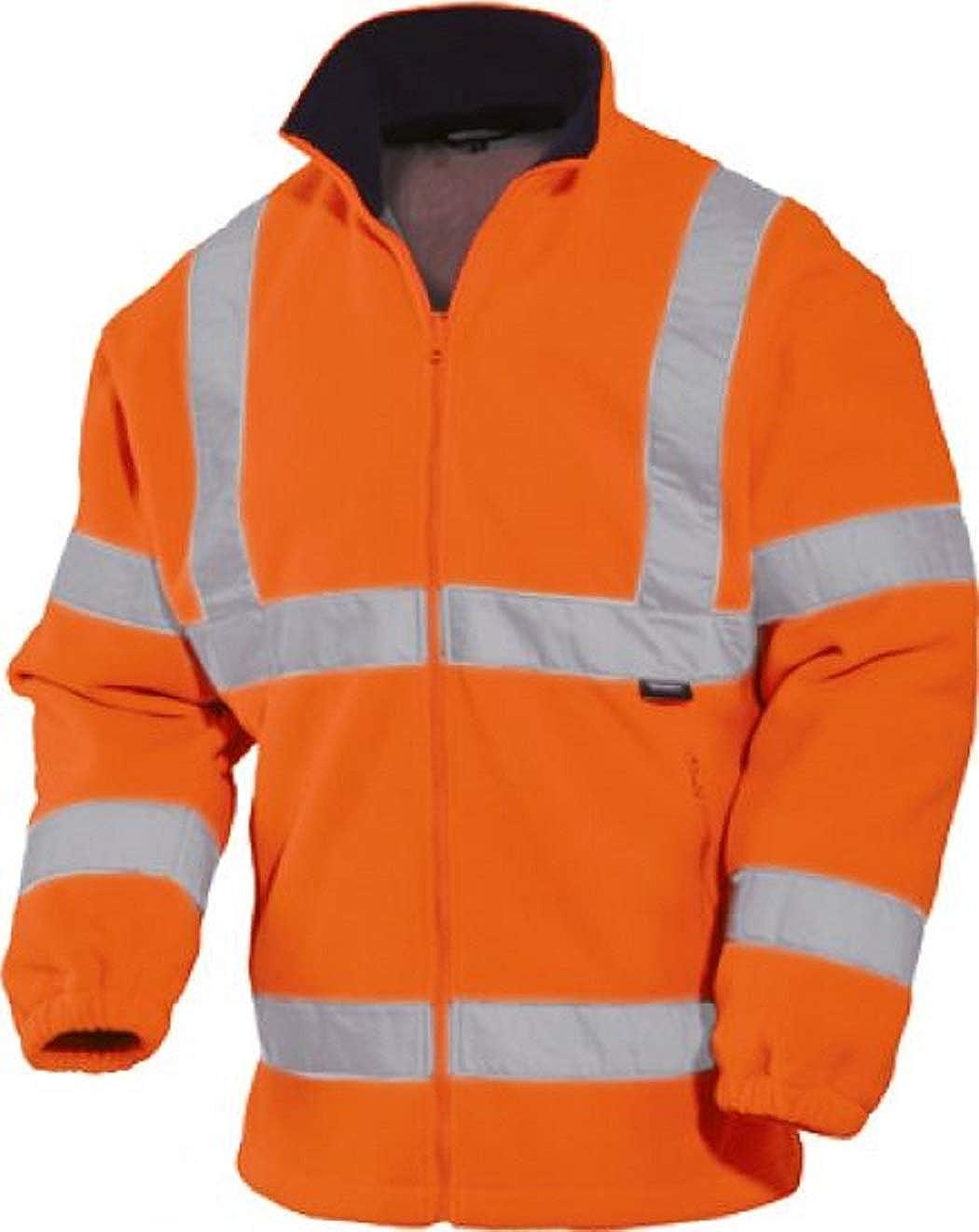 Warnschutz-Fleecejacke Warnfleecejacke Premium Polarfleece orange oder gelb Gr.S-3XL vizwell