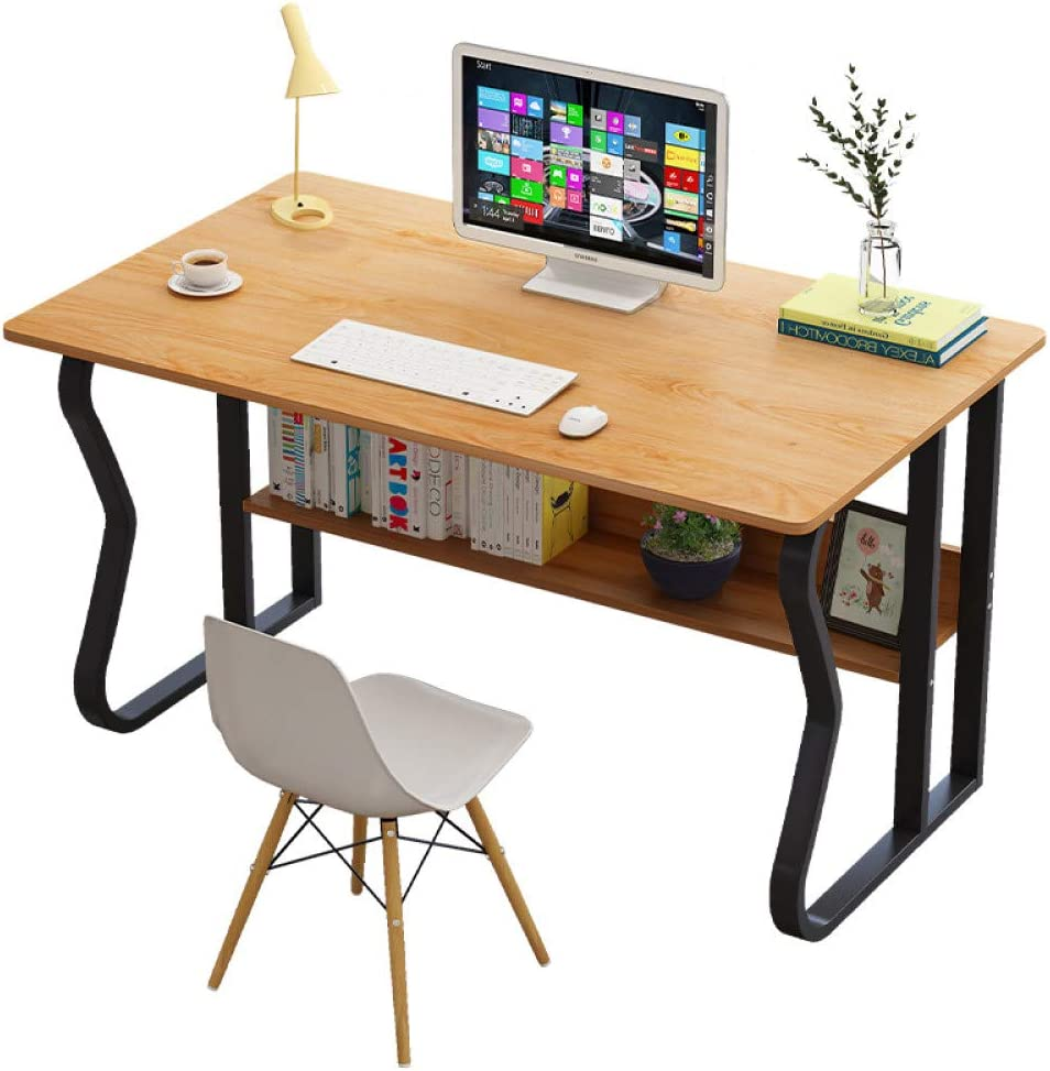 Computer Desk, XLO Workstation Office Study Desk Computer PC Laptop Table, Multipurpose Home Wooden Office Meeting Table,A,140x70x72cm