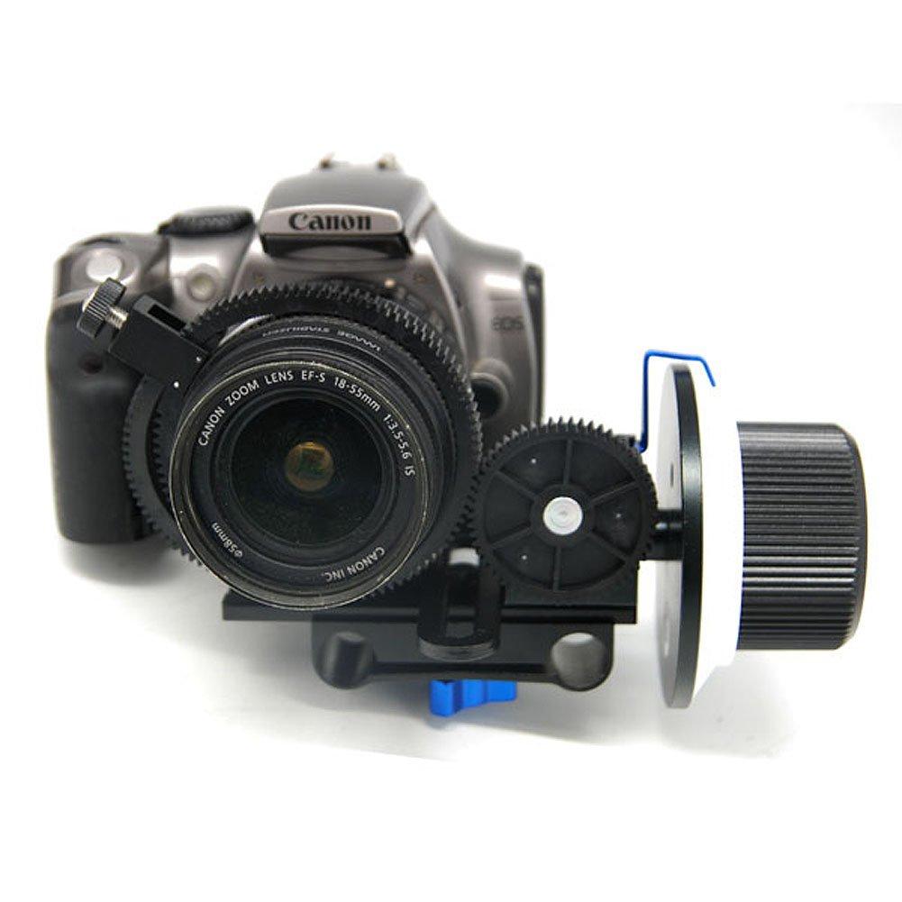 Koolertron F2 Follow Focus Finder With Gear Ring Belt Lens+L Plate 15mm Rod Support For Video Moive DV HDV Camera DSLR Canon 550D 500D 60D 50D 40D 5D2,5D3, Nikon D700 D300 D90 D7000 D5000 D3100 D3000,Fuji, Olymp