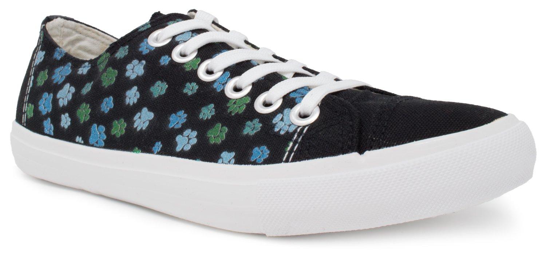 Dog Paw Sneakers | Cute, Fun Clothing House Clothes Tennis Shoe for Women or Men - (Lowtop, US Men's 7, US Women's 9)