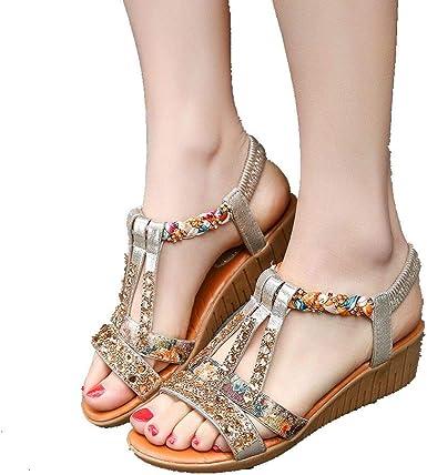 Black 10cm Wedges Platforms High Heels Clogs Mules Indoor Women Shoes US 4.5~7.5