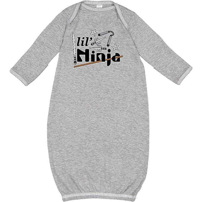 Amazon.com: inktastic Lil Ninja Newborn Layette Heather ...