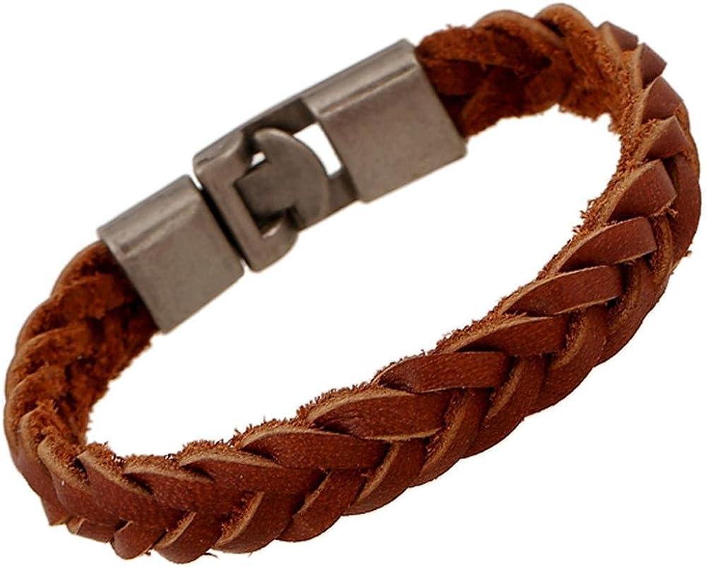 HFJ&YIE&H pulseras de cuero de la armadura de los hombres de la moda