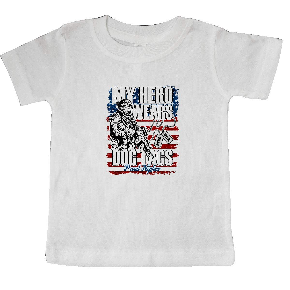 inktastic Military Proud Nephew of Soldier USA Flag Baby T-Shirt