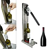 Manual Wine Bottle Corking Machine Brew Wine Bottle Cap Pressing Machine 2 POM heads Stainless Steel Pressure Corker Cork Wine Bottle Corking Inserting Stopper Tools