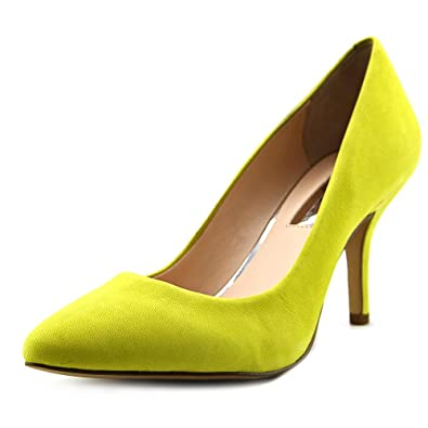 INC International Concepts Womens Zitah Leather Closed Toe Chartreuse Size 5.0