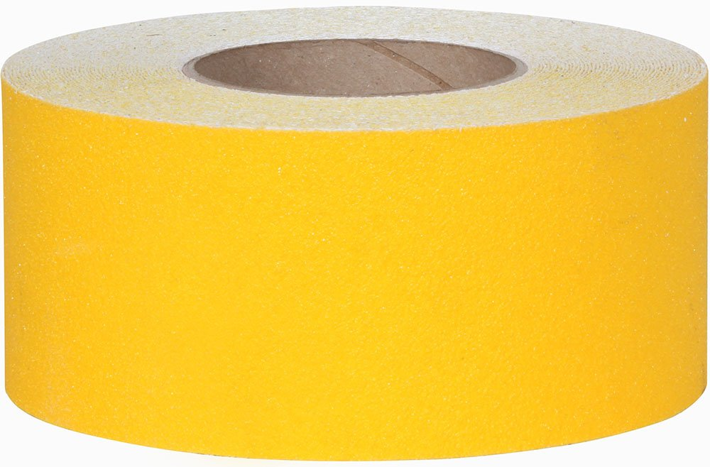 Jessup Safety Track 3335 Commercial Grade Non-Slip High Traction Safety Tape (60-Grit, Yellow, 3-Inch x 60- Foot Roll, Pack of 4)