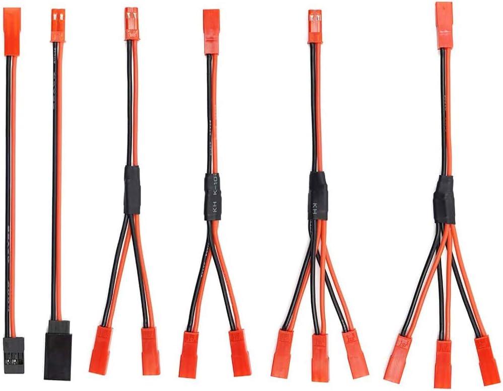 6PCS JST Plug Splitter JST Macho Hembra Y Cable JST Y Paralelo Adaptador Arnés JST a JR Adaptador para Traxxas TRX-4 RC Coche Crawler Camión ...