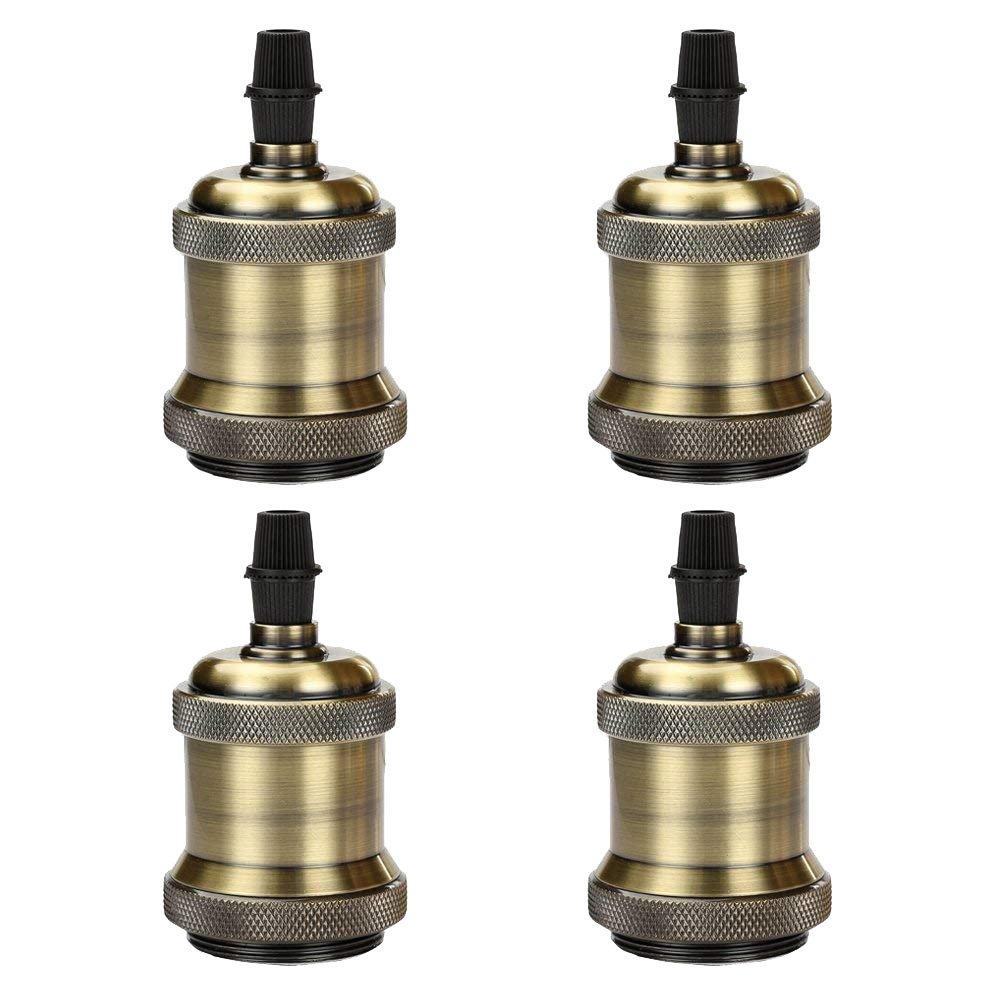GreenSun 4× Edison Douille Vintage E27 Adaptateur De Lampe Rétro Vintage Lustre Sans Fil En Aluminium Céramique à L'intérieur Aluminium G2 Others