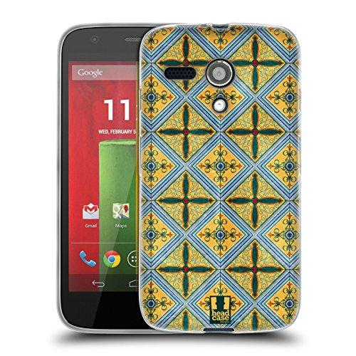 Price comparison product image Head Case Designs Ceramic Arabesque Pattern Soft Gel Case for Motorola Moto G (1st Gen)