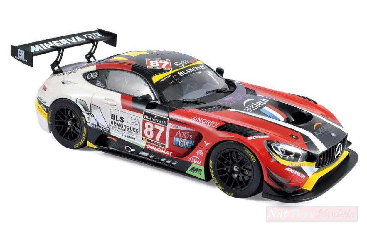 NOREV NV183492 Mercedes AMG GT3 N87 GT Series Monza 2016 BEAUBELIQUE-Ricci-1:18