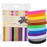 Zogin 12 Colori Collarini Regolabili Collare Cucciolo Cane Collare Gattino Collare Velcro Colorato Flessibile di Tessuto Morbido Accessorio per Identificazione Cuccioli