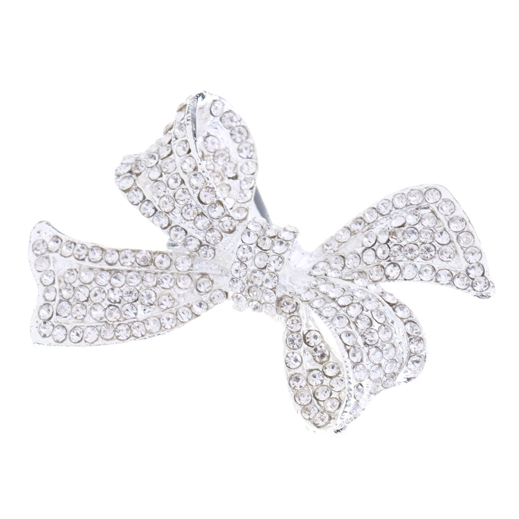 Gazechimp Barettes Cheveux Femme Cristal Accessoire Bijoux Nœud Mariage Cadeau Bricolage