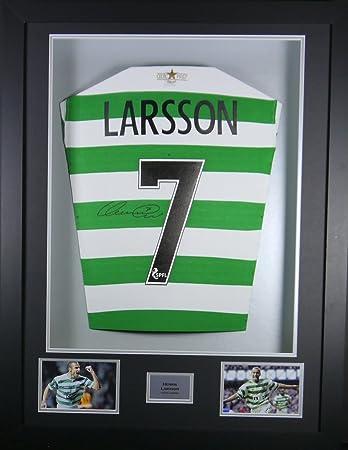 Henrik Larsson Keltisches SIGNED Shirt, 3D-Rahmen Display mit ...