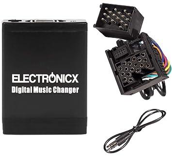 Electronicx® Elec-M06-BM1 Adaptador de Musica para Coche USB, SD, AUX para BMW, Land Rover, Mini Rundpin, Cambiador de CD
