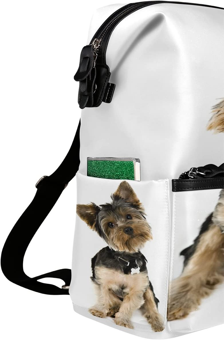 Laptop Backpack Lightweight Waterproof Travel Backpack Double Zipper Design with Lovely Puppy School Bag Laptop Bookbag Daypack for Women Kids
