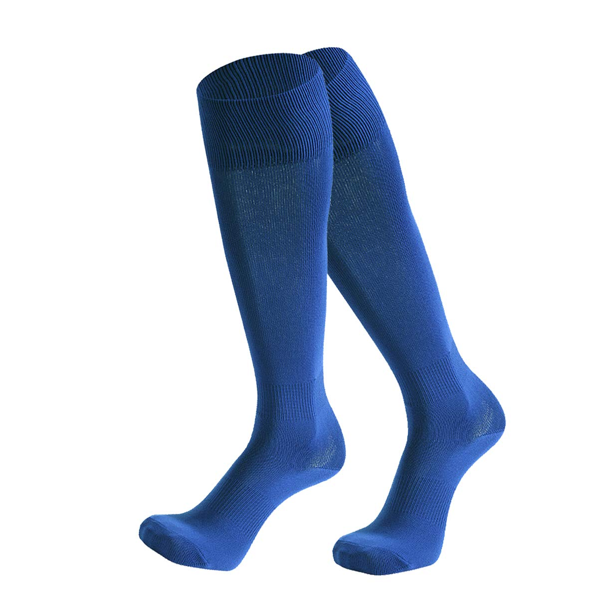 Dsource Unisex Soccer Socks Knee High Solid Baseball Football Sports Team Socks 2 Pairs Blue by Dsource