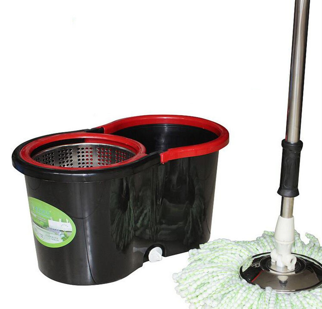 Value-added Products Rooling spin mop with bucket floor cleaning system and 2 Heads Mop