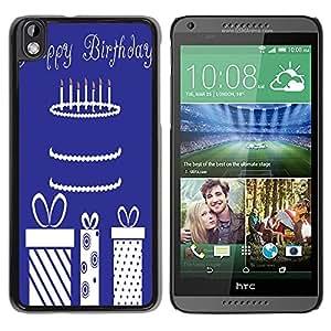 Dragon Case - FOR HTC DESIRE 816 - happy birthday to you - Caja protectora de pl??stico duro de la cubierta Dise?¡Ào Slim Fit