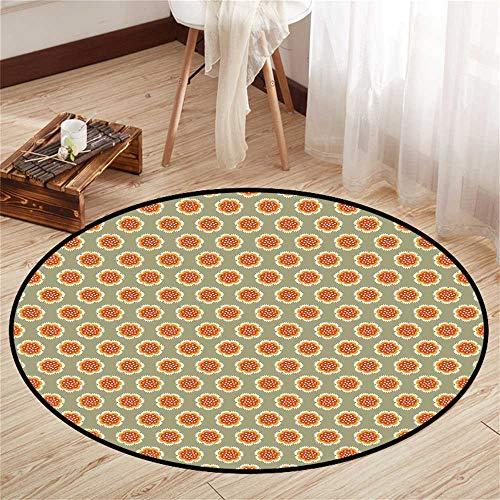 Circularity Floor mat entryway Round Indoor Floor mat Entrance Circle Floor mat for Office Chair Wood Floor Circle Floor mat Office Round mat for Living Room Pattern 3'11