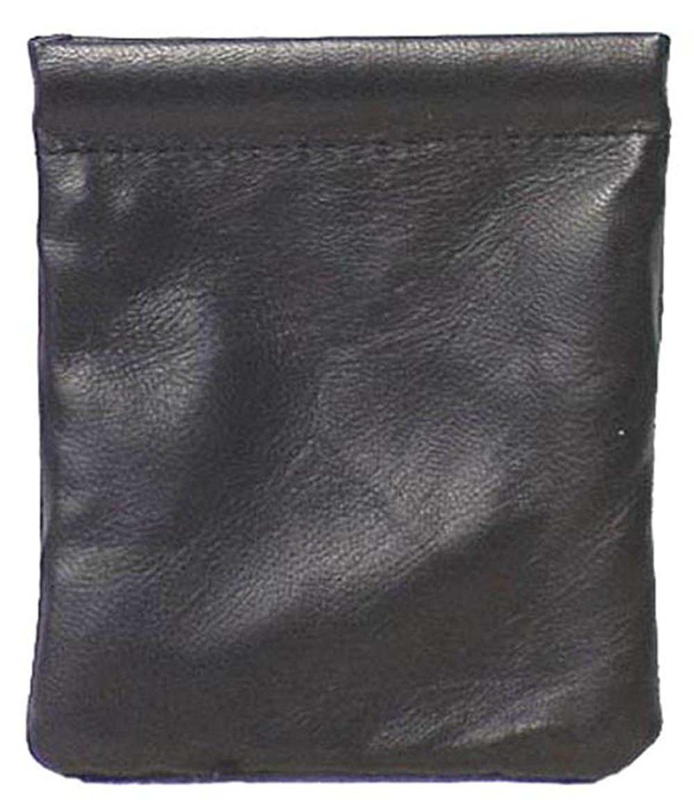 Genuine Leather Squeeze Coin Purse BLACK # 8029 US