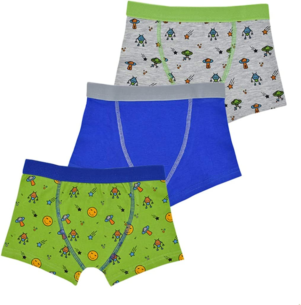 TF 3 Pairs of Boys Boxer Shorts Briefs Underwear RJM Design