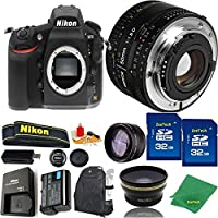 Great Value Bundle for D810 DSLR – 50MM 1.8D + 2PCS 32GB Memory + Wide Angle + Telephoto Lens + Backpack
