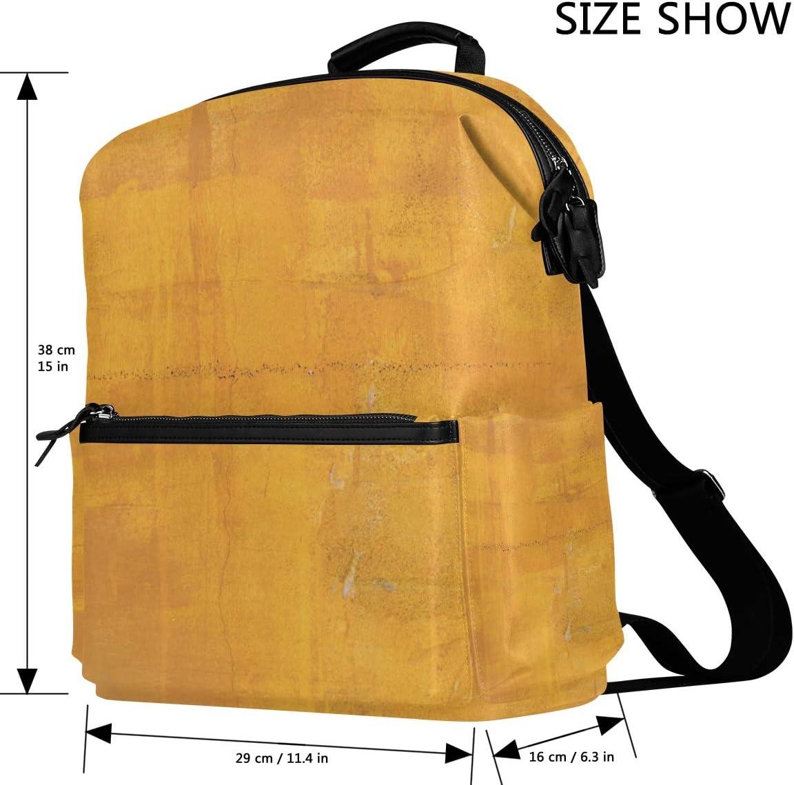 Yellow Pigment Backpack Travel Bag Laptop Bag Stylish Large Capacity