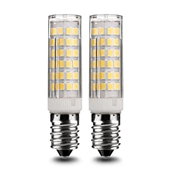 Pack de 2 bombillas LED de bajo consumo con base E14, 7 W, 500 lm, equivalentes a luces incandescentes ...