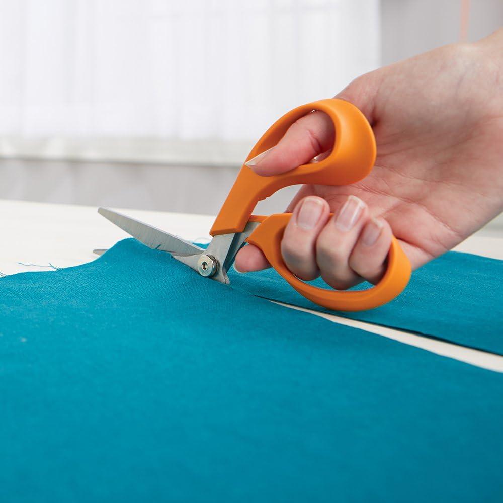 5 Inch Fiskars 199800-1001RazorEdge Fabric Shears//Seam Ripper for Tabletop Cutting