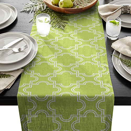 Edwiinsa Simple Moroccan Pattern Table Runner For Dining Table Kitchen Wedding Party Decoration Table Top Home Decor 18 x 72 Inch