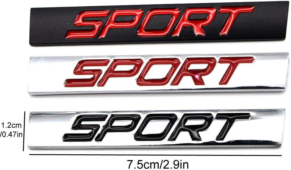 Sport-Silver Black Dsycar 3D Metal Adhesive Sport Truck Car Badge Emblem Sticker Universal Car Styling Decal Accessories