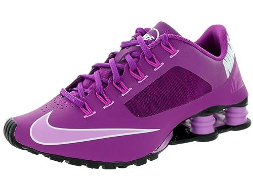 Nike Women s Shox Superfly R4 BLD Brry FCHS GLW FCHS Flsh Bl Running ... 934621e50
