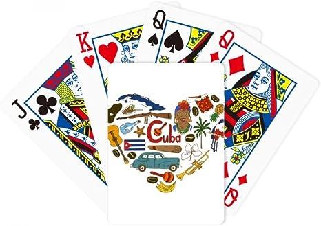 Cuba Corazón Landscap bandera nacional Poker juego de cartas Juego De Mesa Regalo: Amazon.es: Deportes y aire libre
