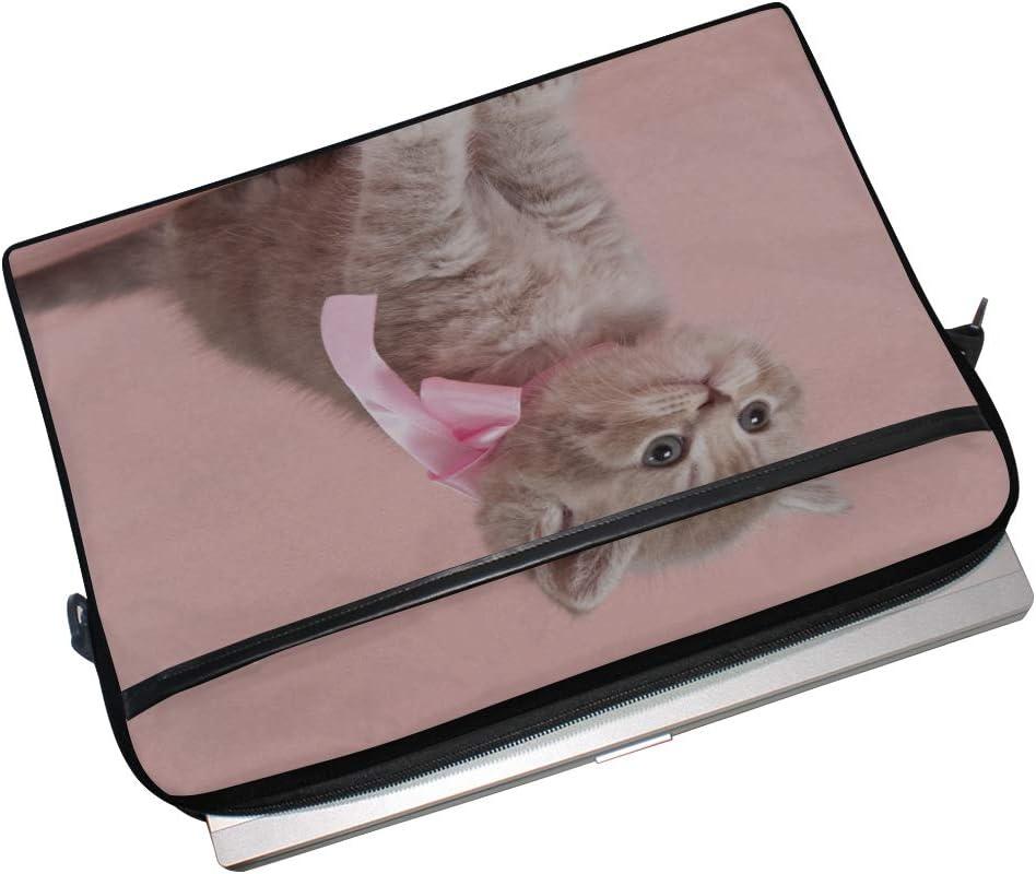 College Students Business People Office Workers Laptop Bag Beautiful Kitten 15-15.4 Inch Laptop Case Briefcase Messenger Shoulder Bag for Men Women