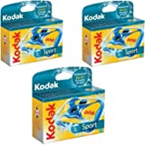 3 Kodak Underwater Disposable One Time Use Waterproof Sport Camera Dated 2015