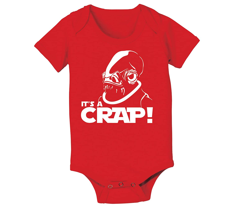It's A Crap Trap Admiral Ackbar Funny Geek Nerd Nerdy Sci-Fi Humor Baby One Piece