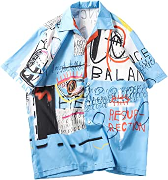 XuanhaFU Camiseta Hombre de Verano, Moda Hombres Estilo de Playa Suelto Estampado Japonés Camisetas Camiseta de Manga Corta Blusa Tops: Amazon.es: Ropa y accesorios
