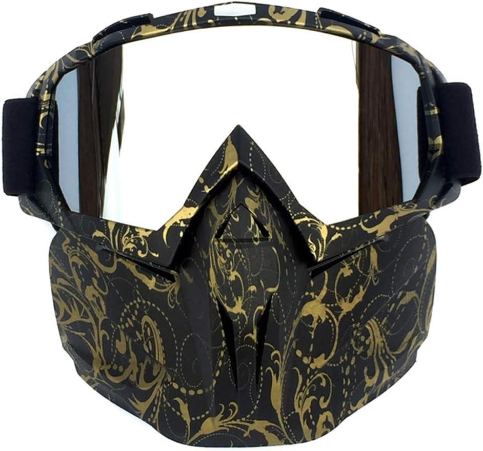 Vintage Motorradbrille M/änner Frauen Elastic Full Frame Motorradbrille Winddichte Maske Anti-Dazzling Motorrad Skifahren CS Brille