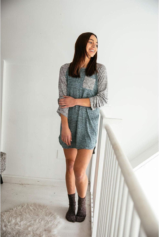 Hello Mello Carefree Threads Sleep Shirt with Luxurious Soft Fabric