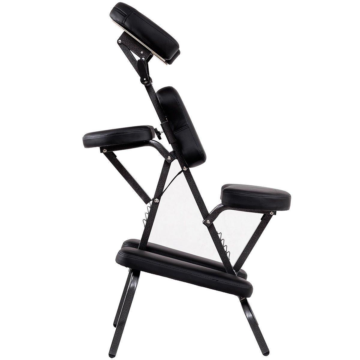 Portable PU Leather Pad Travel Massage Tattoo Spa Chair W/Carrying Bag Black by Allblessings (Image #4)
