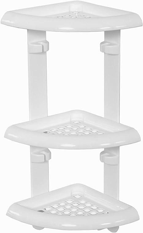 White Zenna Home Pole Shower Caddy