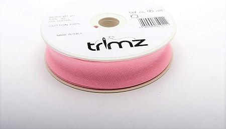 New Version Par 5 m/ètres Designers-factory Cotton Bias Binding in Baby Pink Large pink baby clothes Cotton Bias Binding