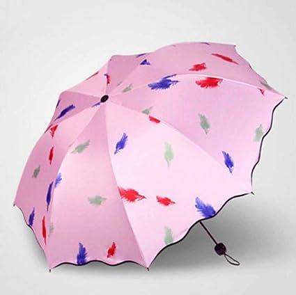 Kaxima Paraguas, Paraguas Plegable, protección UV, Paraguas, Paraguas de Vinilo, Paraguas